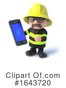 Fireman Clipart #1643720 by Steve Young