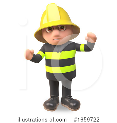 Fireman Clipart #1659722 by Steve Young