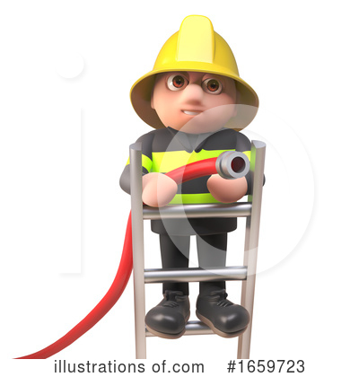 Fireman Clipart #1659723 by Steve Young