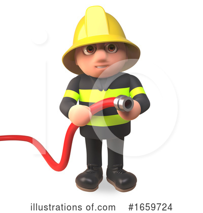 Fireman Clipart #1659724 by Steve Young