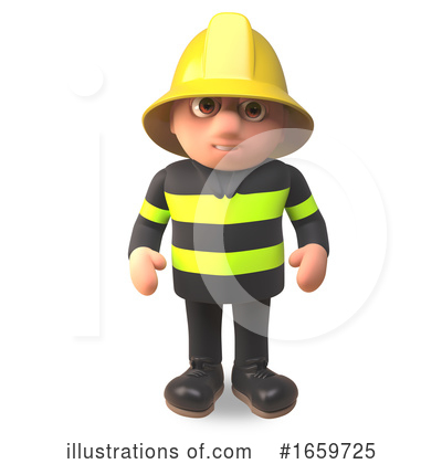 Fireman Clipart #1659725 by Steve Young