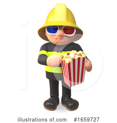 Fireman Clipart #1659727 by Steve Young