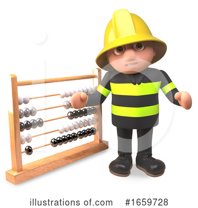 Fireman Clipart #1659728 by Steve Young
