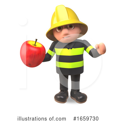 Fireman Clipart #1659730 by Steve Young