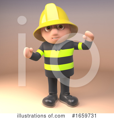Fireman Clipart #1659731 by Steve Young
