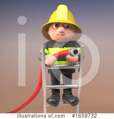 Fireman Clipart #1659732 by Steve Young