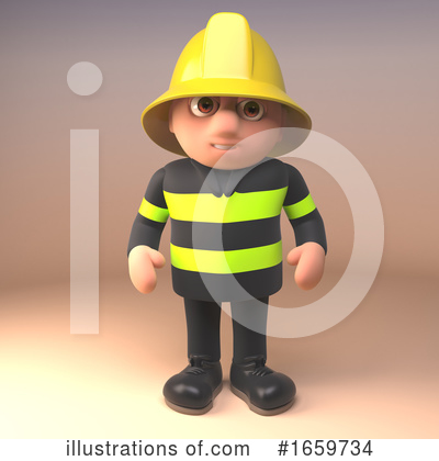 Fireman Clipart #1659734 by Steve Young