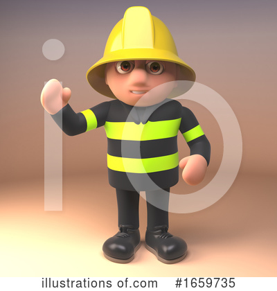 Fireman Clipart #1659735 by Steve Young