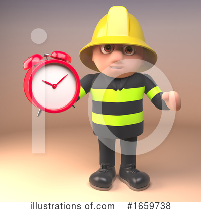 Fireman Clipart #1659738 by Steve Young