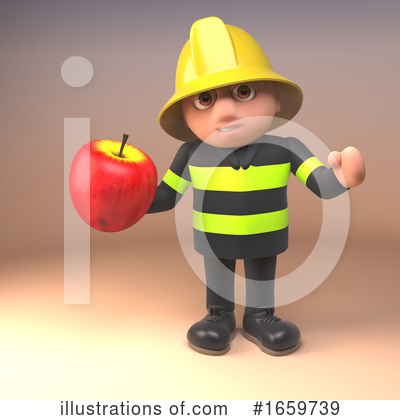 Fireman Clipart #1659739 by Steve Young