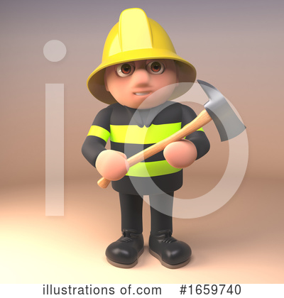 Fireman Clipart #1659740 by Steve Young
