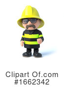 Fireman Clipart #1662342 by Steve Young