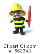 Fireman Clipart #1662343 by Steve Young