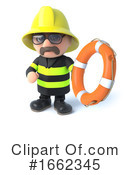 Fireman Clipart #1662345 by Steve Young