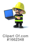 Fireman Clipart #1662348 by Steve Young