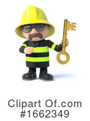 Fireman Clipart #1662349 by Steve Young