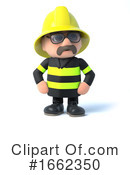Fireman Clipart #1662350 by Steve Young