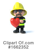 Fireman Clipart #1662352 by Steve Young