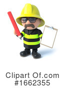 Fireman Clipart #1662355 by Steve Young