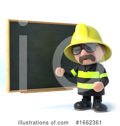 Royalty-Free (RF) Fireman Clipart Illustration by Steve Young - Stock Sample #1662361