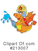 Royalty-Free (RF) Fireman Clipart Illustration #213007