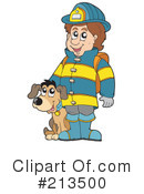 Royalty-Free (RF) Fireman Clipart Illustration #213500