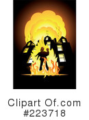 Royalty-Free (RF) Fireman Clipart Illustration #223718
