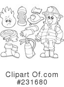 Royalty-Free (RF) Fireman Clipart Illustration #231680