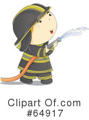 Royalty-Free (RF) Fireman Clipart Illustration #64917