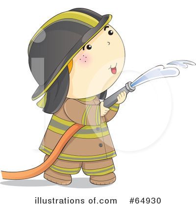 Royalty-Free (RF) Fireman Clipart Illustration by YUHAIZAN YUNUS - Stock Sample #64930