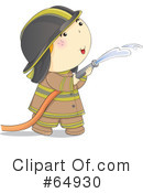 Royalty-Free (RF) Fireman Clipart Illustration #64930