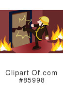 Royalty-Free (RF) Fireman Clipart Illustration #85998