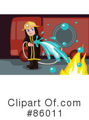 Royalty-Free (RF) Fireman Clipart Illustration #86011
