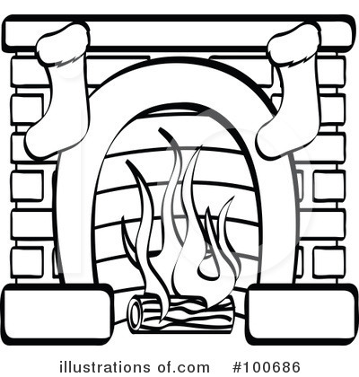 Fireplace Clipart 100686 Illustration By Andy Nortnik