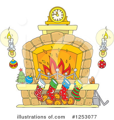 Fireplace Clipart #1253077 by Alex Bannykh