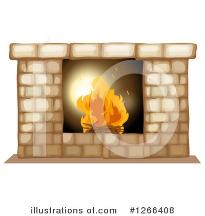 Royalty-Free (RF) Fireplace Clipart Illustration by Graphics RF - Stock Sample #1266408