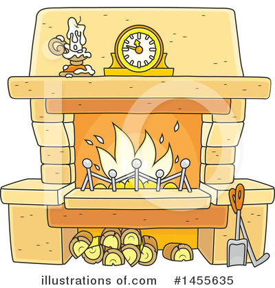 Royalty-Free (RF) Fireplace Clipart Illustration by Alex Bannykh - Stock Sample #1455635