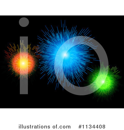Royalty-Free (RF) Fireworks Clipart Illustration by elaineitalia - Stock Sample #1134408
