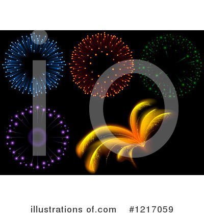 Fireworks Clipart #1217059 by dero