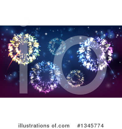 Fireworks Clipart #1345774 by AtStockIllustration