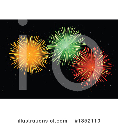 Royalty-Free (RF) Fireworks Clipart Illustration by Pushkin - Stock Sample #1352110