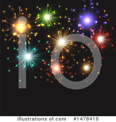 Royalty-Free (RF) Fireworks Clipart Illustration by KJ Pargeter - Stock Sample #1478410