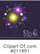 Royalty-Free (RF) Fireworks Clipart Illustration #211851