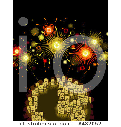 Royalty-Free (RF) Fireworks Clipart Illustration by NL shop - Stock Sample #432052