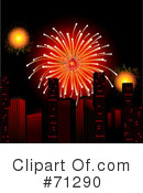 Royalty-Free (RF) Fireworks Clipart Illustration #71290