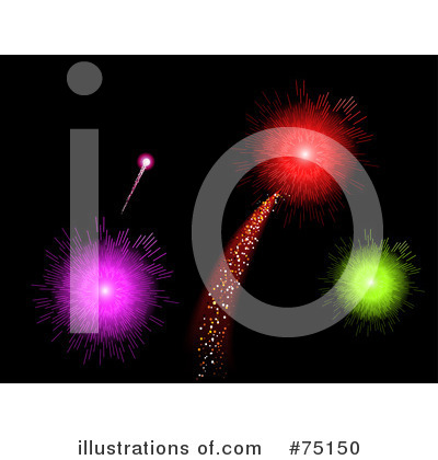 Royalty-Free (RF) Fireworks Clipart Illustration by elaineitalia - Stock Sample #75150