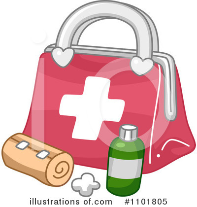 Royalty-Free (RF) First Aid Kit Clipart Illustration by BNP Design Studio - Stock Sample #1101805