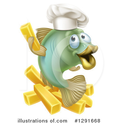 Chef Fish Clipart #1291668 by AtStockIllustration