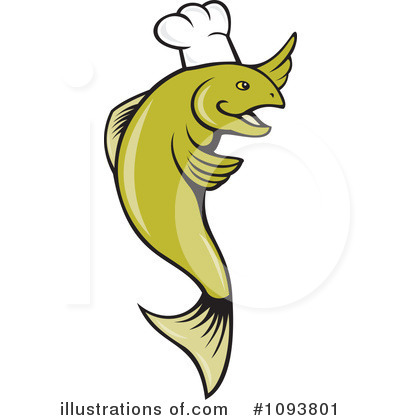 Chef Fish Clipart #1093801 by patrimonio