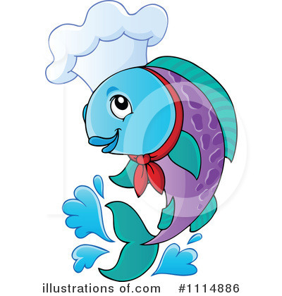 Chef Fish Clipart #1114886 by visekart